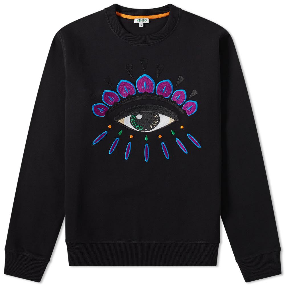 2b010580a Kenzo Embroidered Eye Crew Sweat Black & Purple | END.