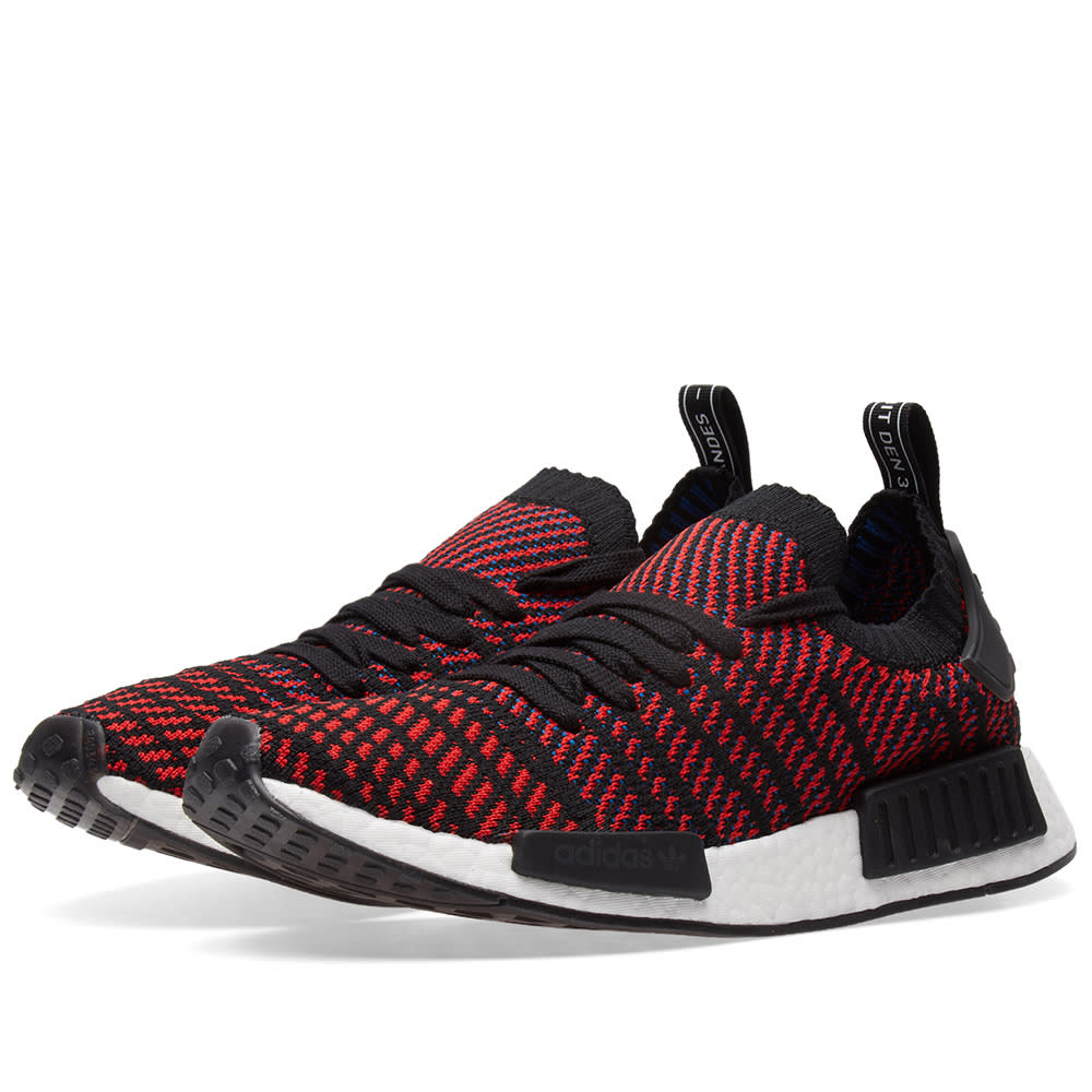 adidas nmd red black and blue