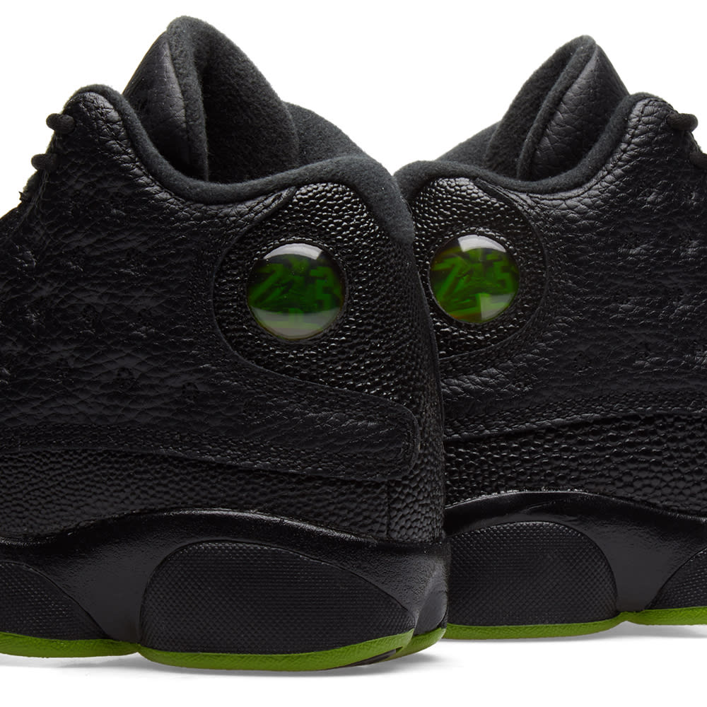 452ef882ab2 Nike Air Jordan 13 Retro BG Black & Altitude Green | END.