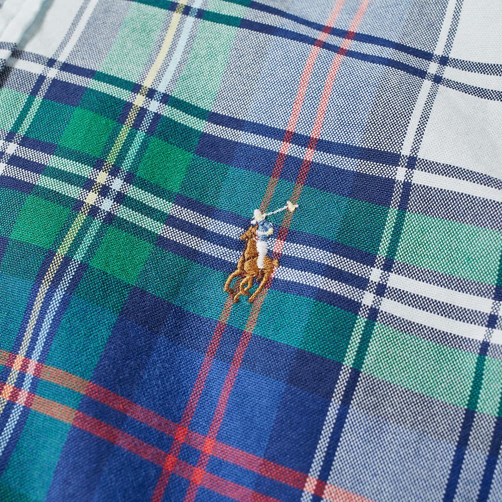 Populære Polo Ralph Lauren Button Down Madras Check Shirt Jade & Royal WE-15