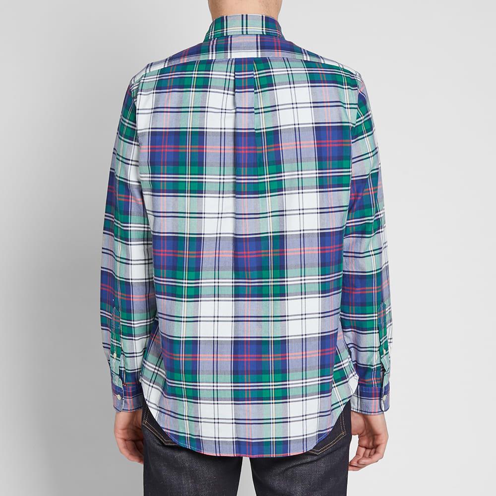 Efterstræbte Polo Ralph Lauren Button Down Madras Check Shirt Jade & Royal LB-58