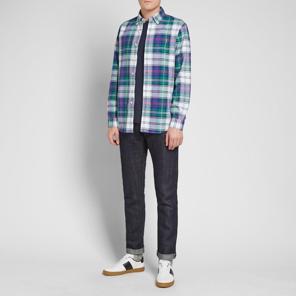 Ubrugte Polo Ralph Lauren Button Down Madras Check Shirt Jade & Royal TR-83