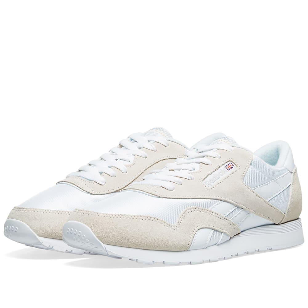 dbceb14e9c3 Reebok Classic Nylon OG White   Light Grey