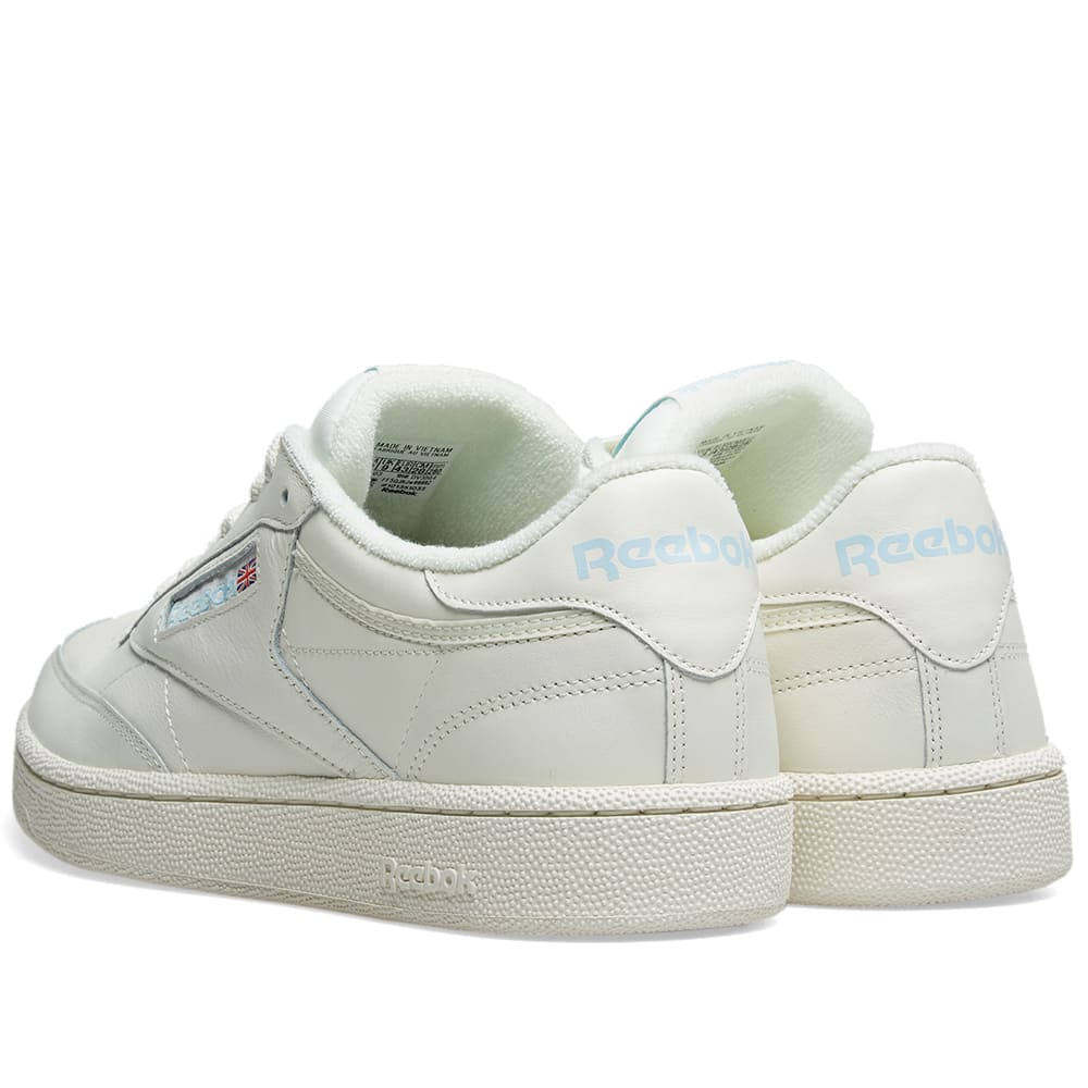 f458784d3e3c0 Reebok Club C 85 Vintage Leather Classic White   Denim Glow