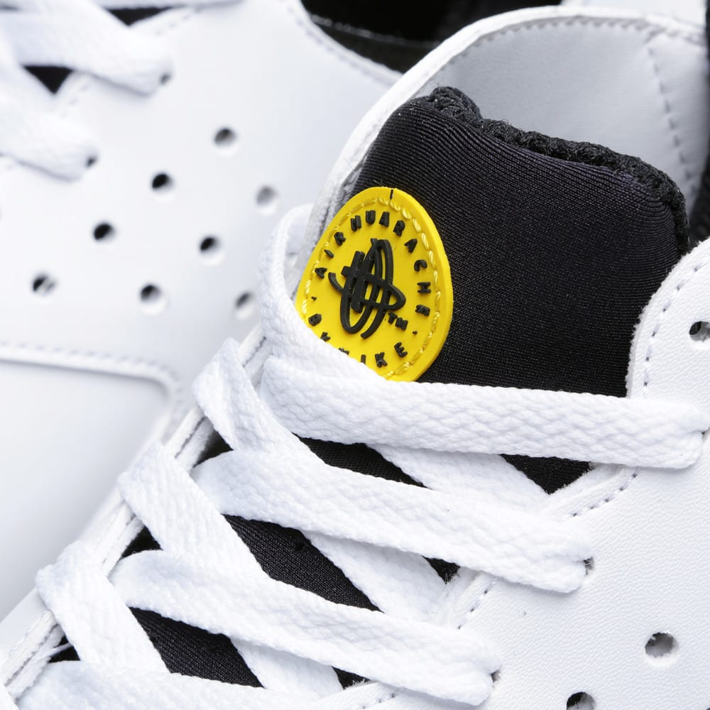 newest collection c8f80 c6d8b Nike Air Tech Challenge Huarache White, Black   Tour Yellow   END.