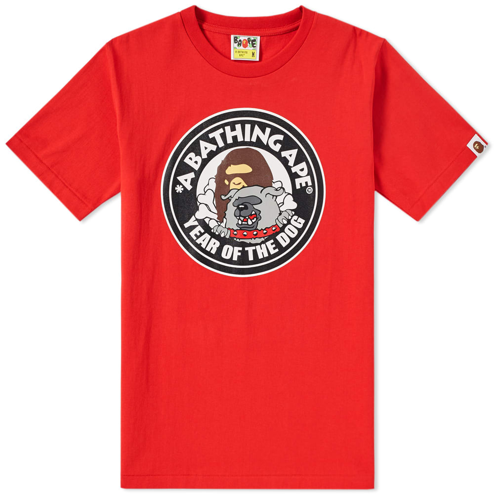 A BATHING APE YEAR OF THE DOG TEE