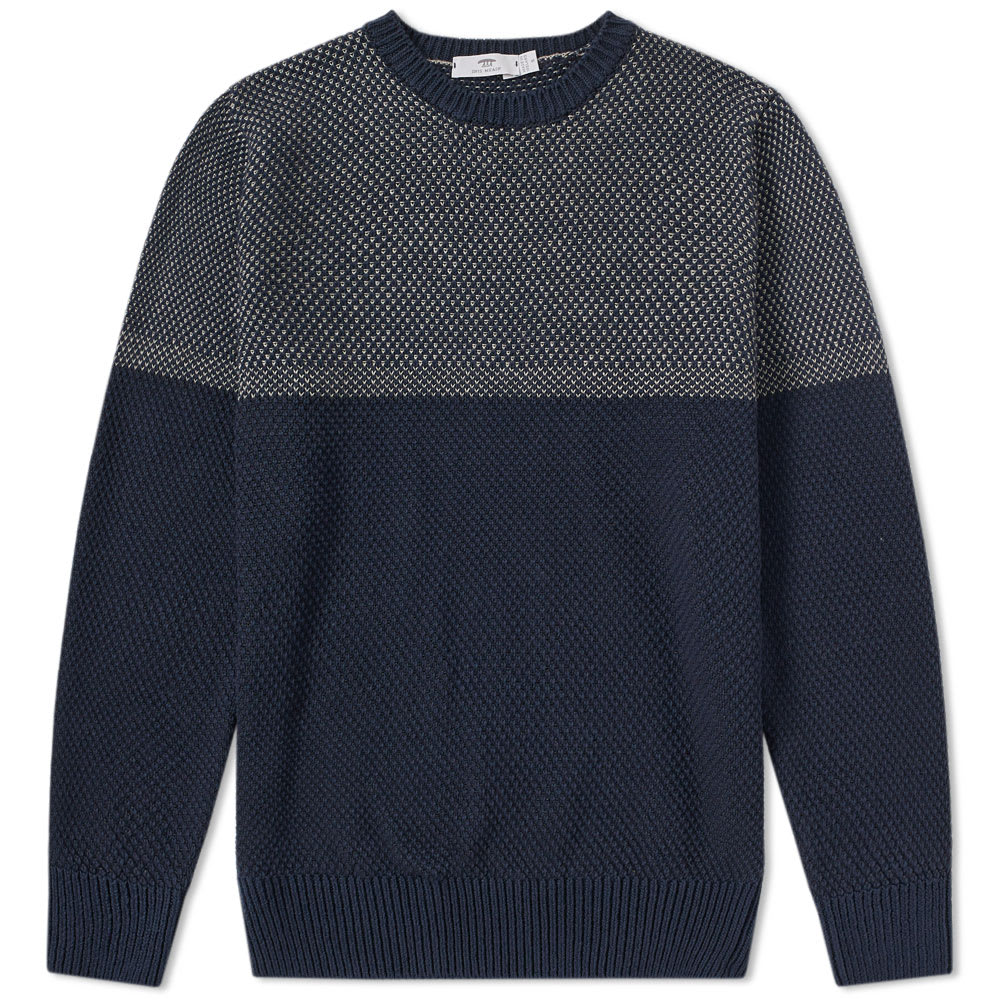 INIS MEAIN GANSEY WAFFLE-KNIT LINEN AND COTTON-BLEND SWEATER