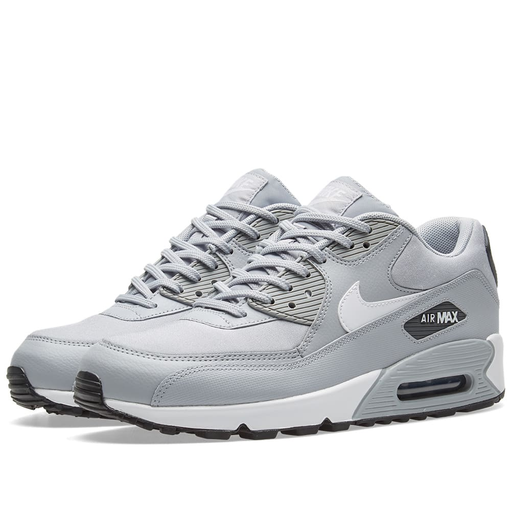new style 09b4c 38558 Nike Air Max 90 W Wolf Grey, White   Black   END.