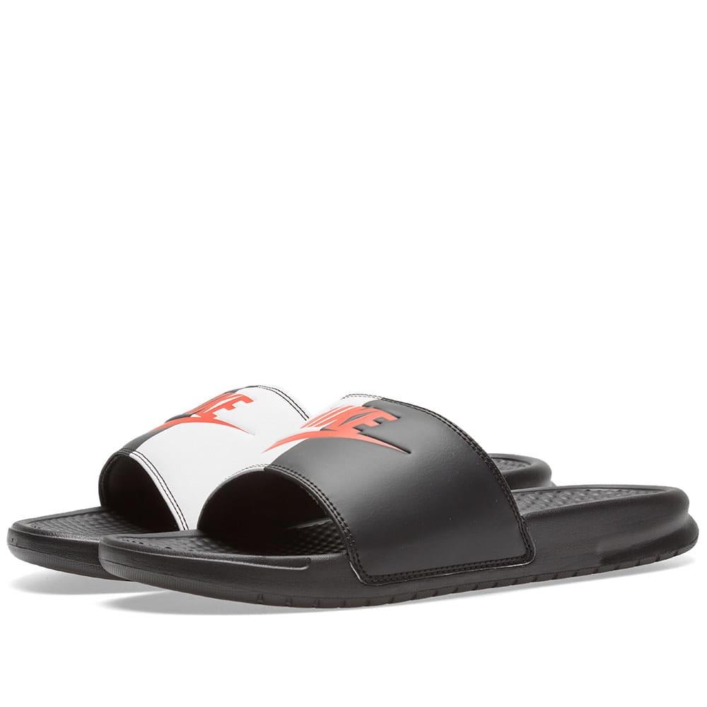 quality design 10dc7 607a6 Nike Benassi JDI Black, Game Red   White   END.