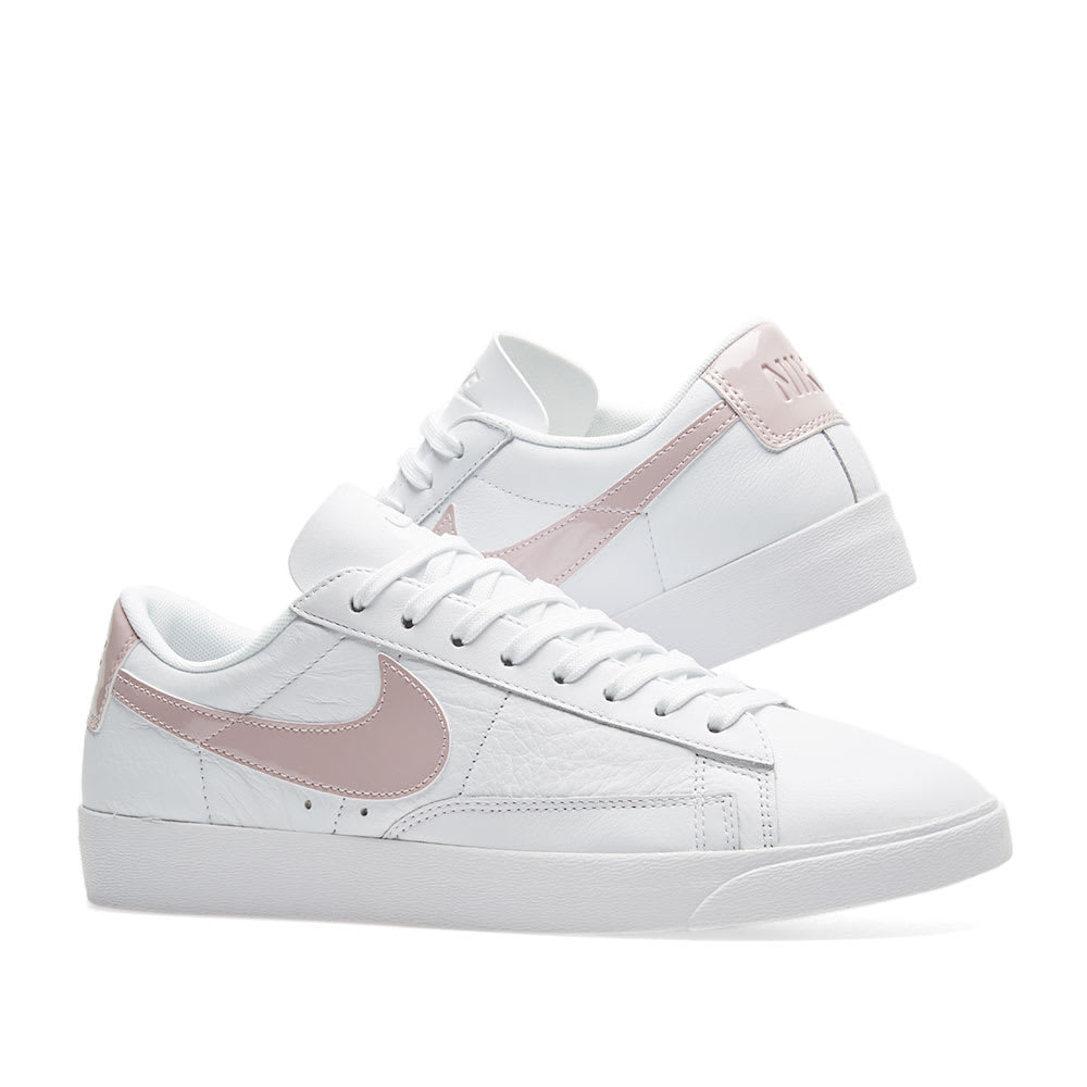 66c9f26dd69927 Nike Blazer Low LE W White & Particle Rose | END.