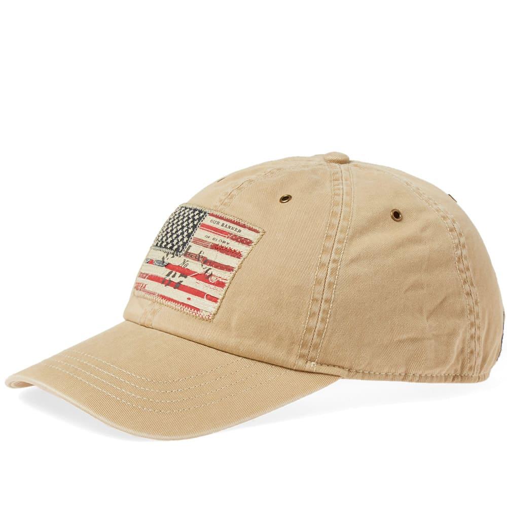 541927b72d756 Polo Ralph Lauren Icon USA Flag Cap Tan