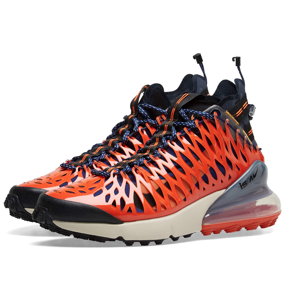 big sale 6f797 e90c7 Nike Air Max 270 ISPA Blue Void   Terra Orange   END.