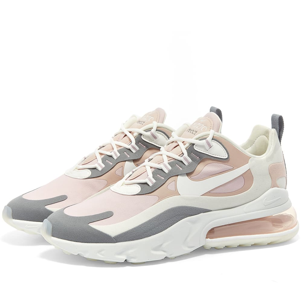 Nike Air Max 270 React 2 W Plum White Grey End