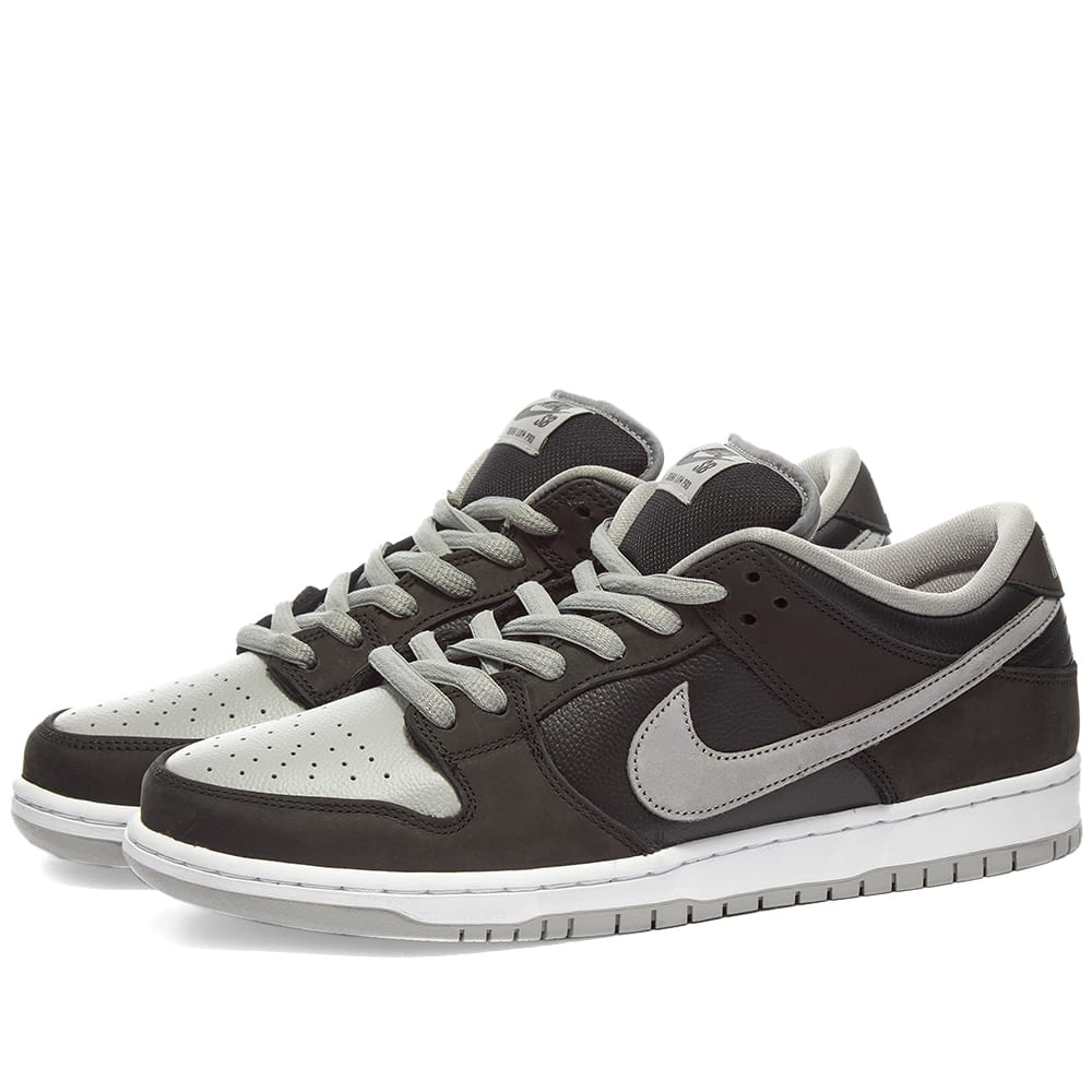 nike dunks grey and black