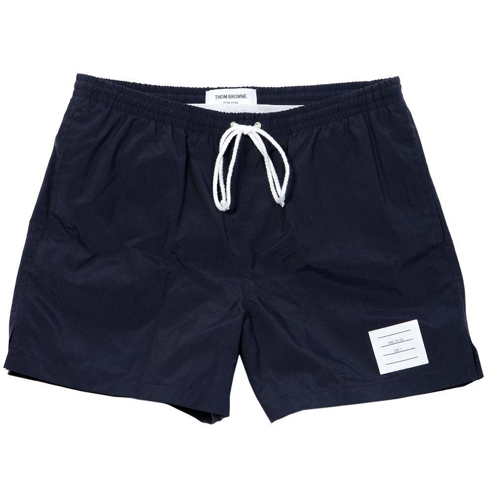 8b2a031d5d Thom Browne Swim Shorts Navy Nylon Taffeta | END.