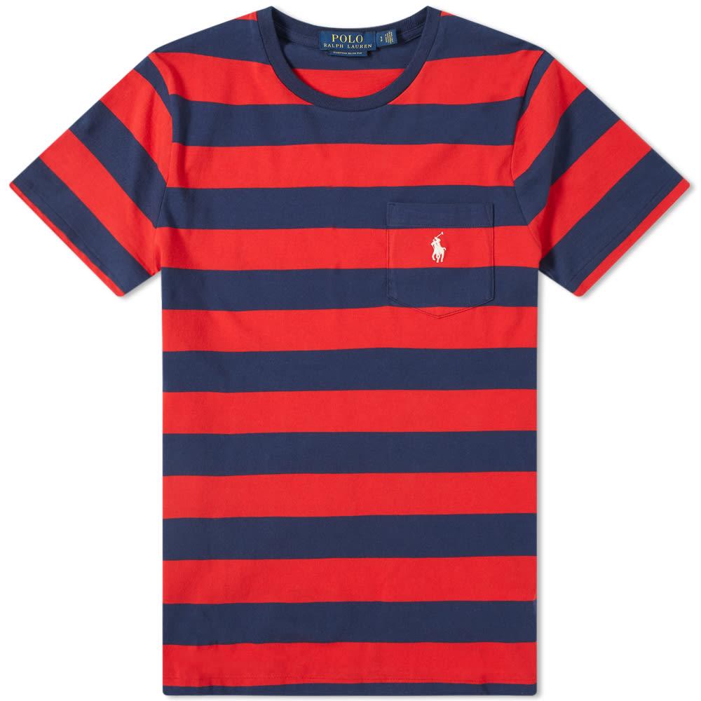 Bold Tee Stripe Pocket Lauren Ralph Polo WEHYDI92