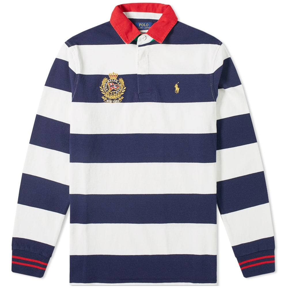 9c1a7a4efc Polo Ralph Lauren Long Sleeve Embroidered Crest Rugby Shirt