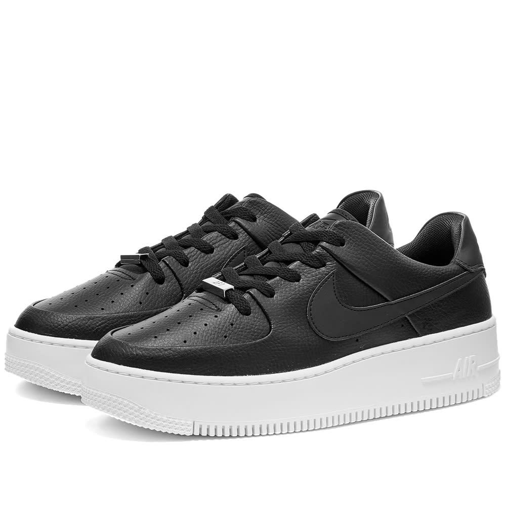Nike Air Force 1 Sage Low W Black | END.