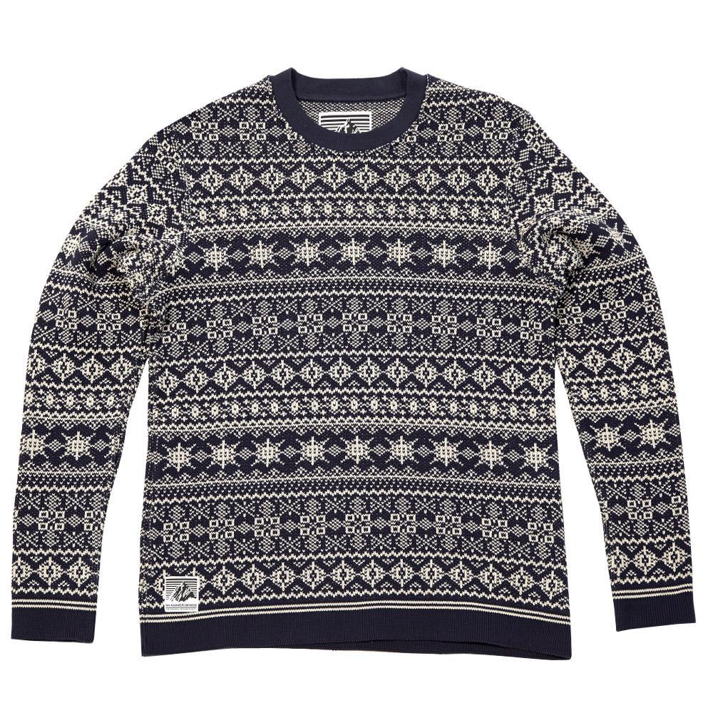 Mt Rainier Design Knitted Nordic Sweater Dark Navy