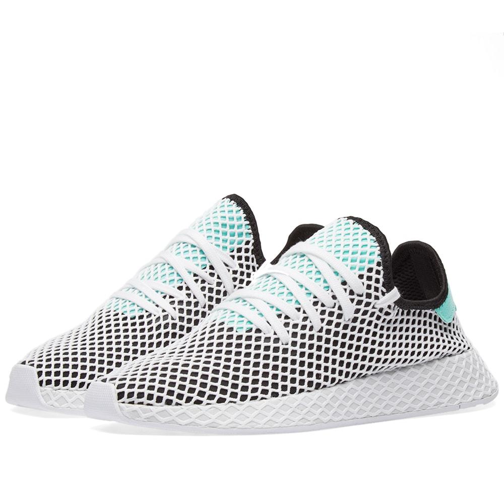 7b957a081 Adidas Deerupt Runner Black   White