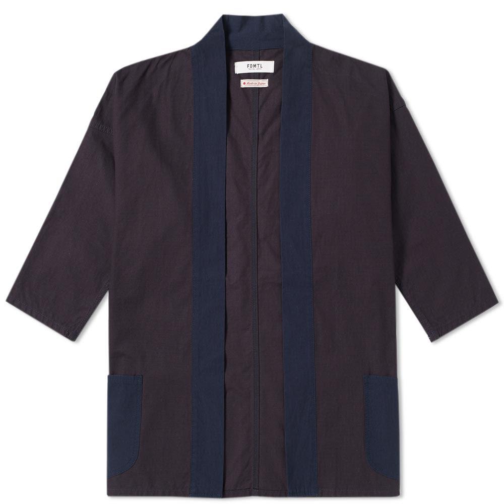 FDMTL Fdmtl Kimono Short Coat in Blue