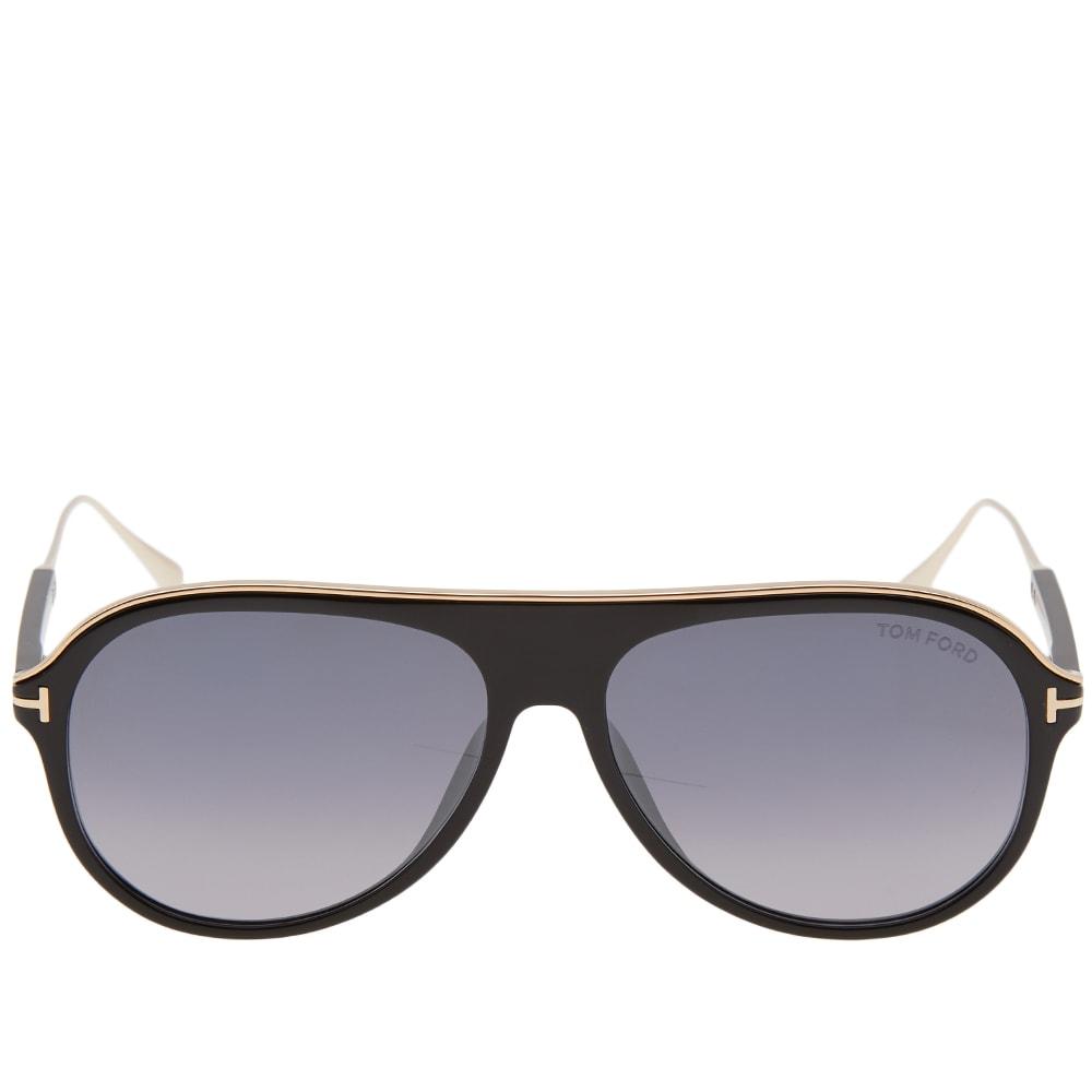 3cc03bede35a Tom Ford FT0624 Nicholai-02 Sunglasses Shiny Black   Smoke Mirror
