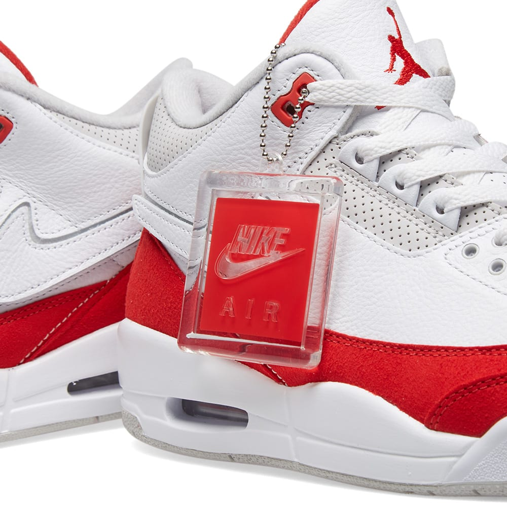 size 40 98d98 63aab Air Jordan 3 Retro White, University Red   Grey   END.