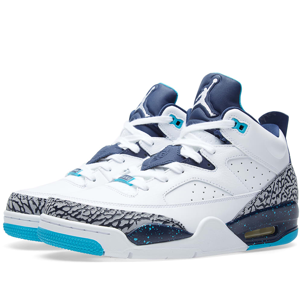 timeless design 36bc5 43e9e Nike Air Jordan Son of Mars Low  Hornets  White   Midnight Navy   END.