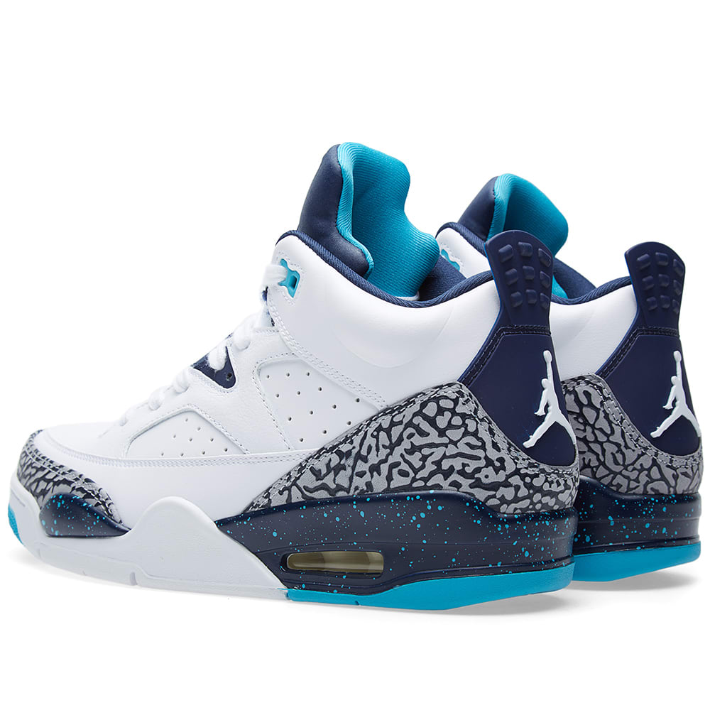 28a7c9de5c1d9a Nike Air Jordan Son of Mars Low  Hornets  White   Midnight Navy