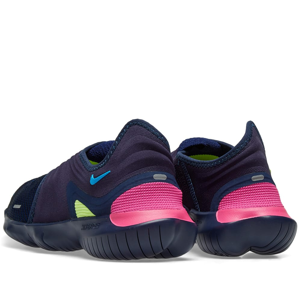 quality design 066d0 df2a1 Nike Free Run Flyknit 3.0 Midnight Navy   Volt Blue Hero   END.