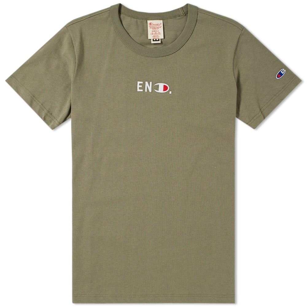 c469ed4d END. x Champion Reverse Weave Jersey Tee Olive | END.