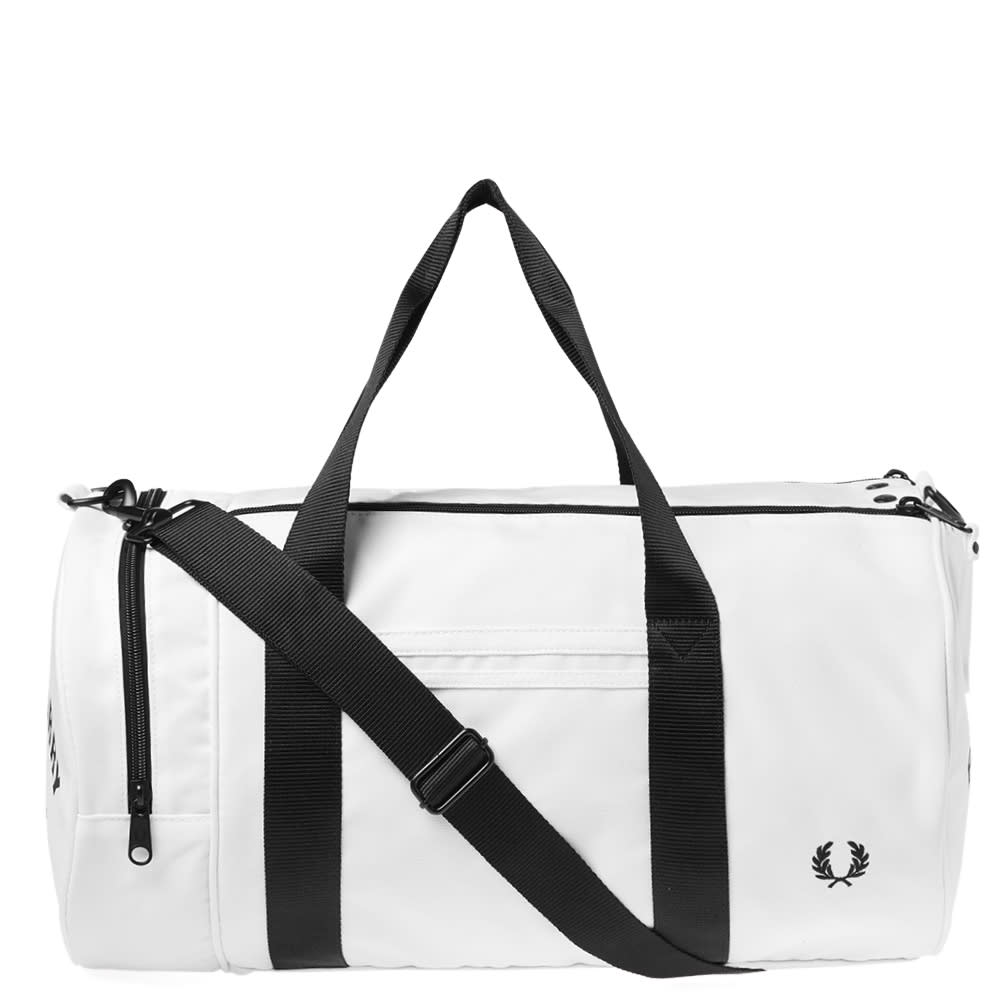 adde6afa0 Fred Perry Twin Tipped Barrel Bag Snow White | END.