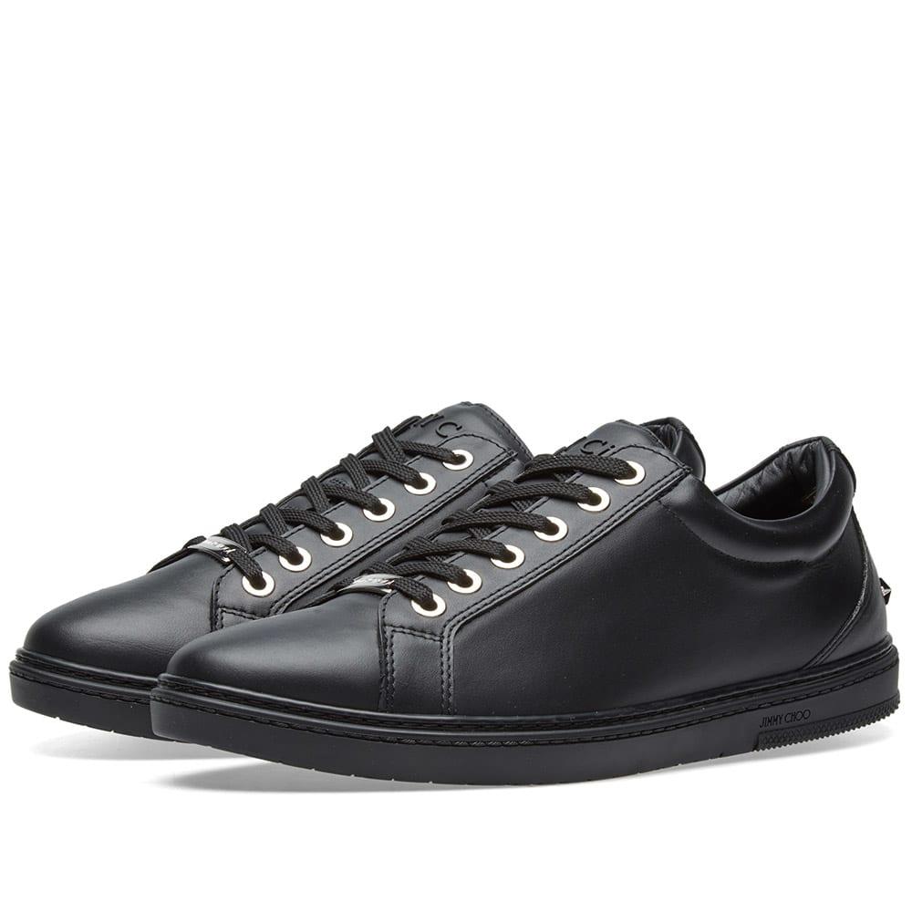 Jimmy Choo Cash Sneaker Black Smooth