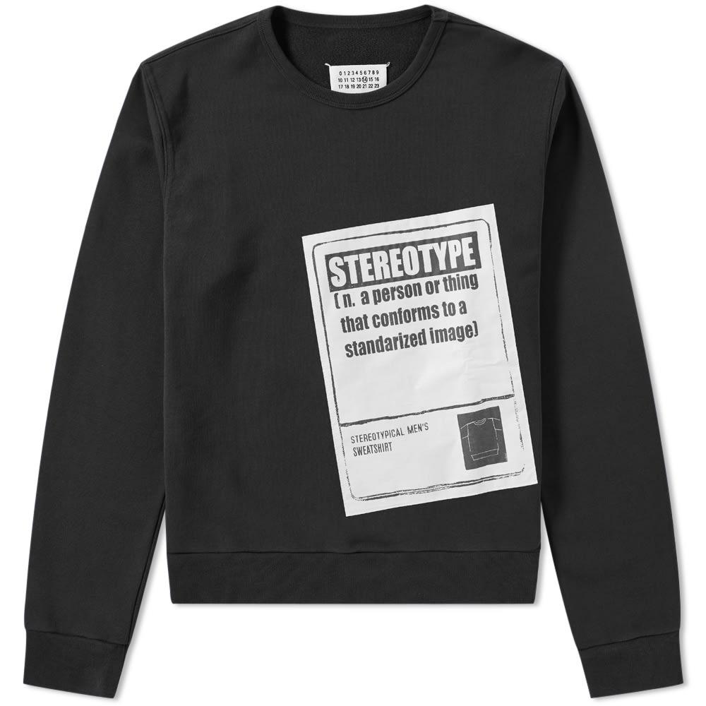 MAISON MARGIELA Black Stereotype Sweatshirt In Cotton