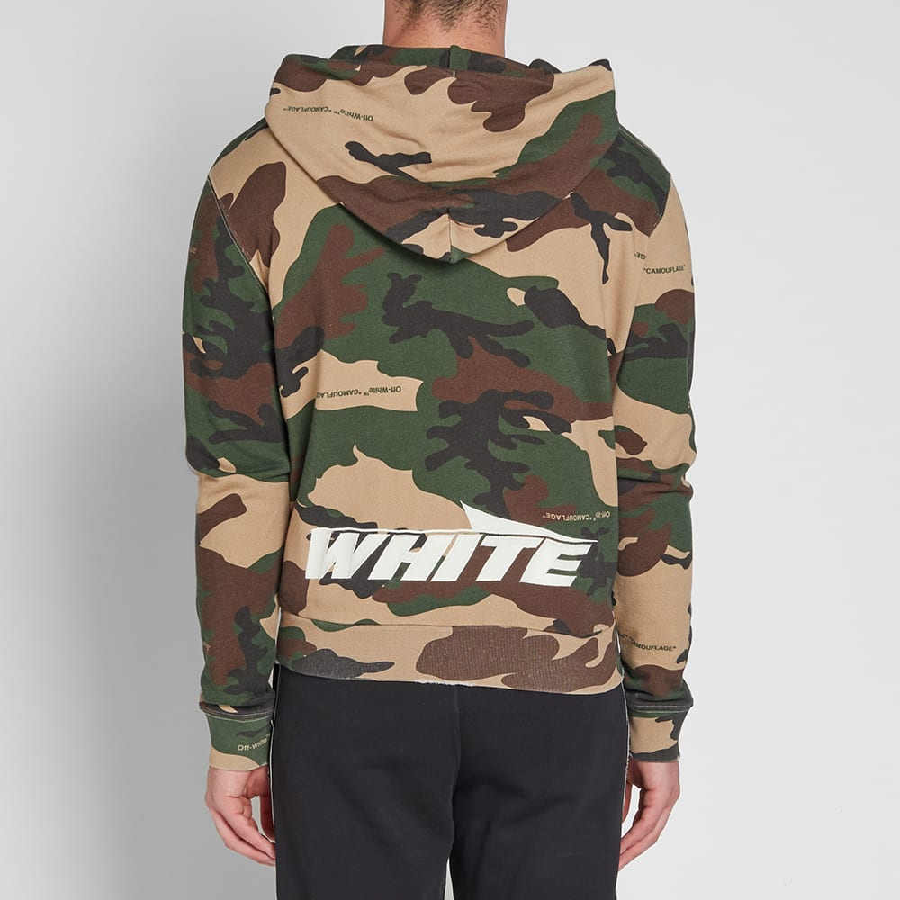 76581b676c1a Off-White Camo Zip Hoody All Over Green