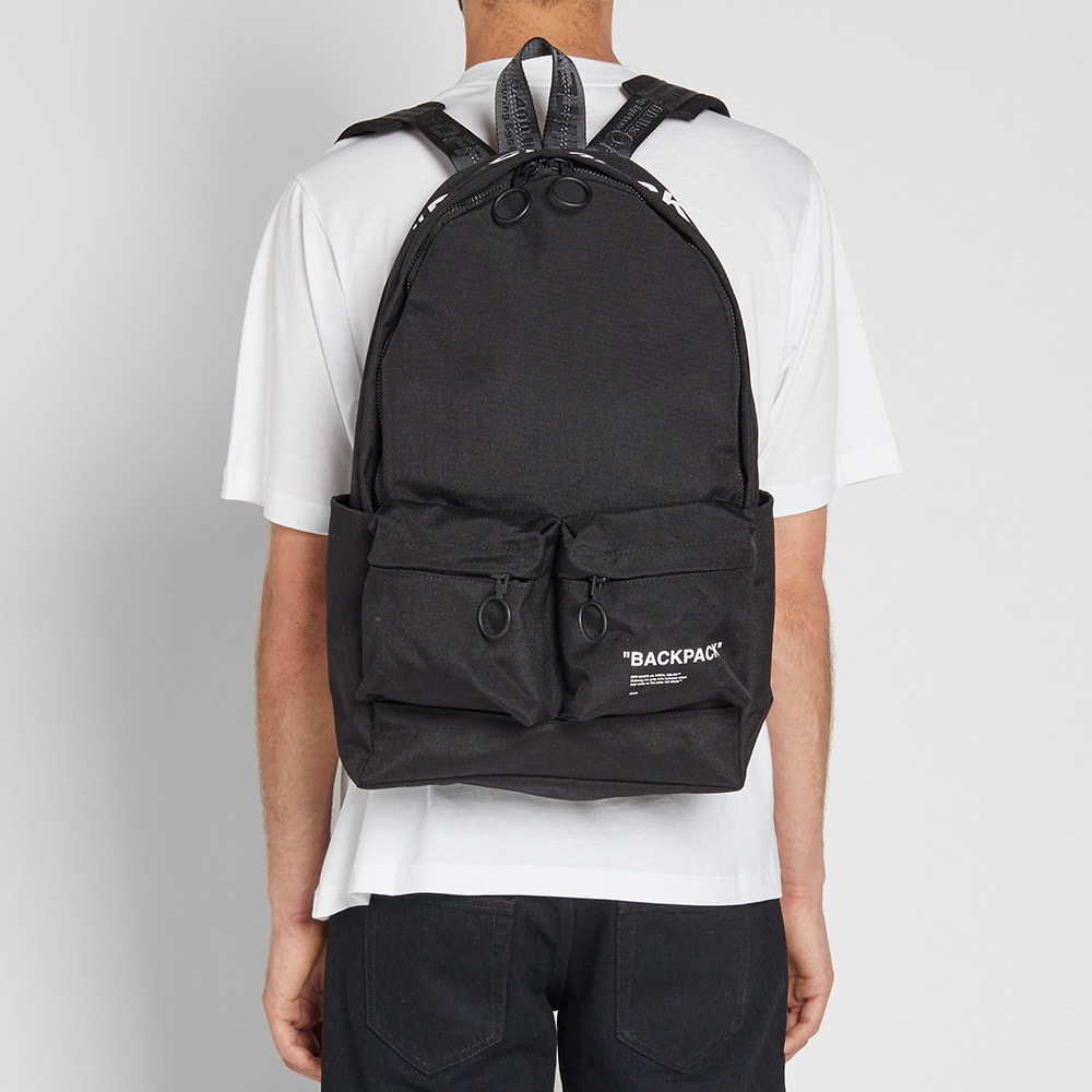 85cc9d7e3083f3 Off-White Quote Backpack Black & White | END.