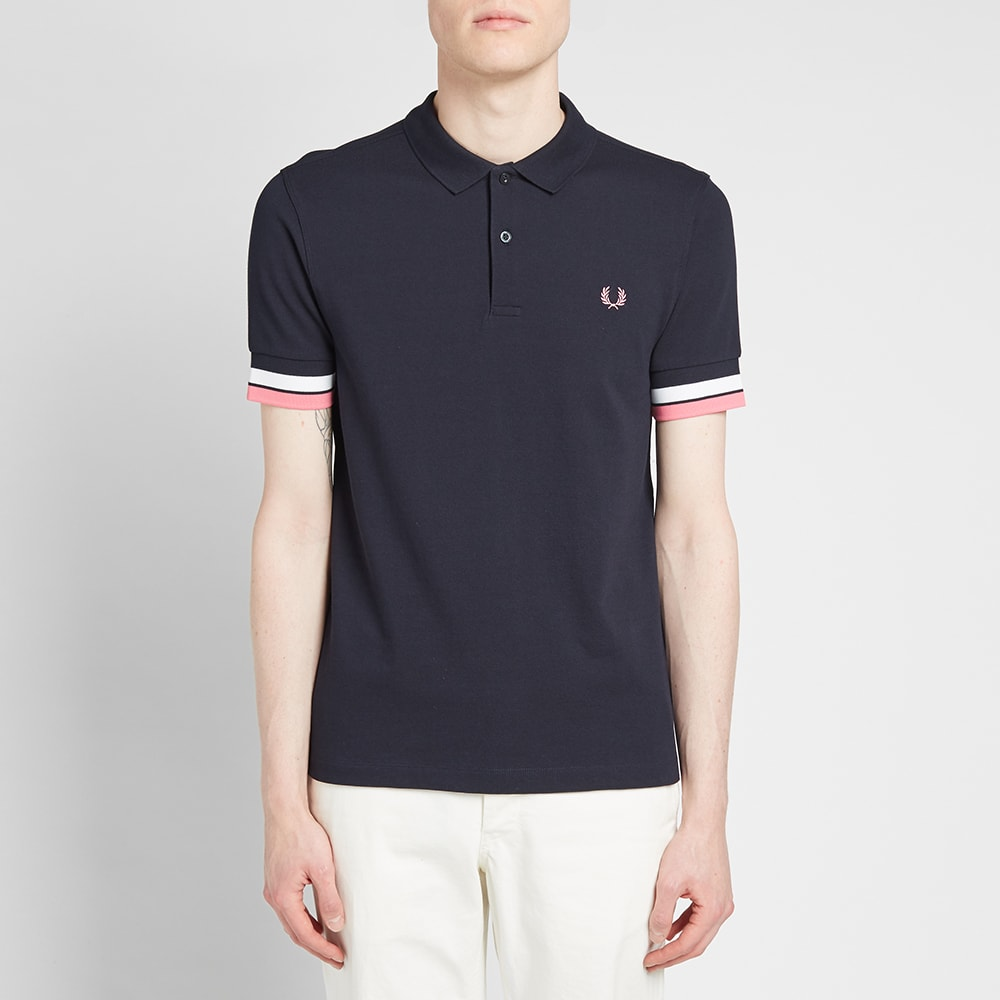 4da551946 Fred Perry Authentic Bold Cuff Polo Navy | END.