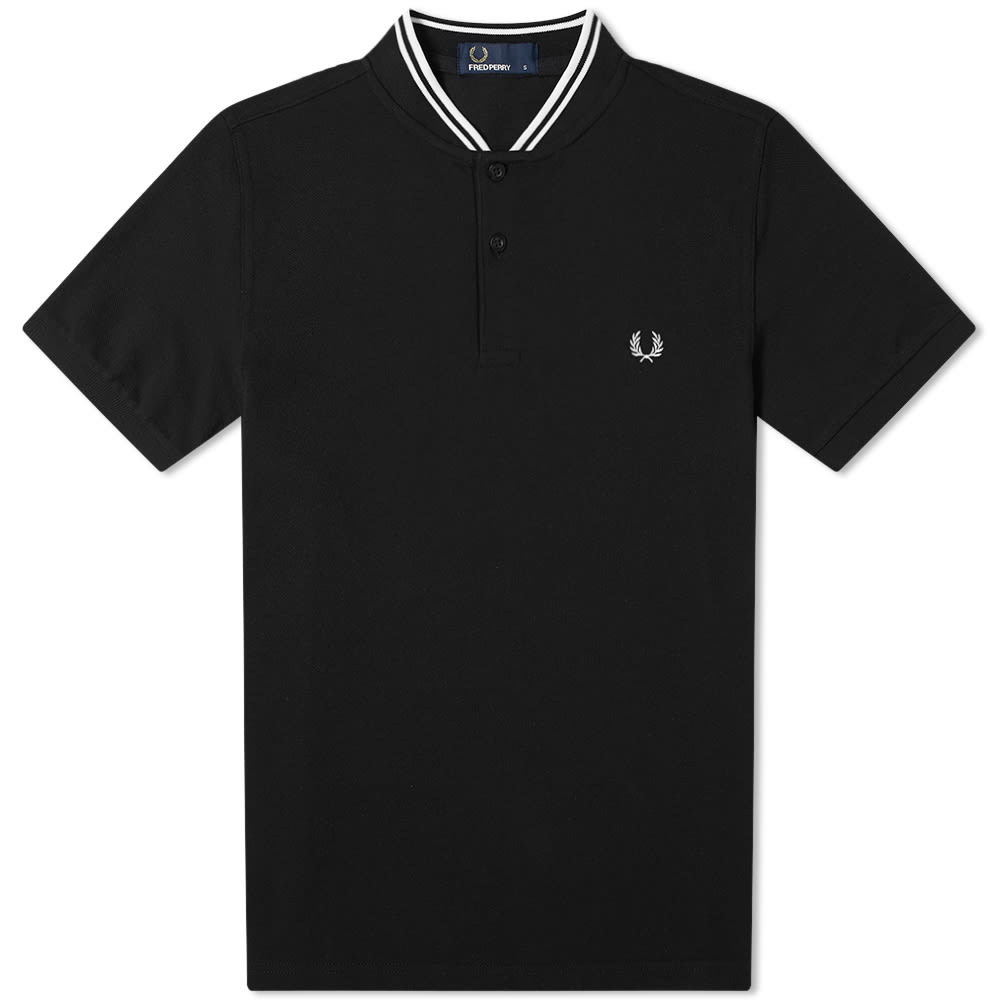 ee9fe4d37 Fred Perry Authentic Bomber Collar Polo Black | END.