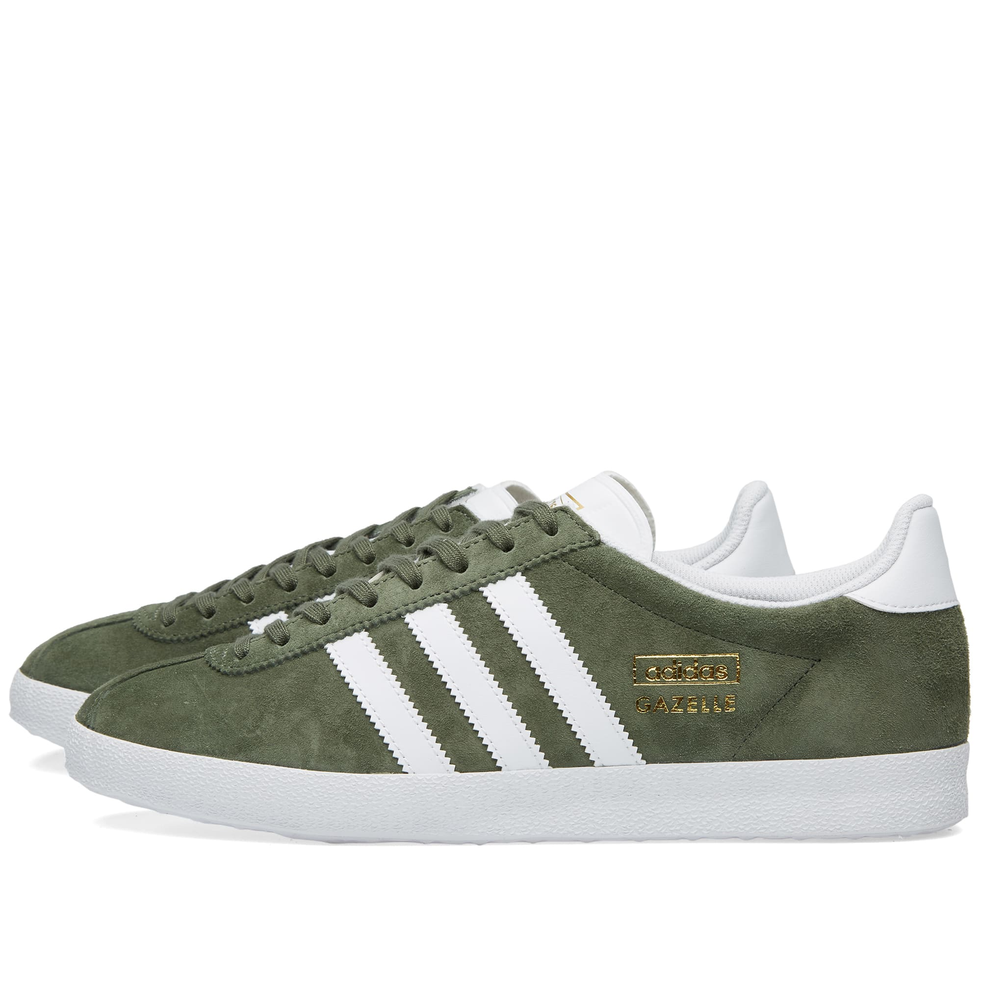 Adidas Gazelle OG Base Green \u0026 White | END.
