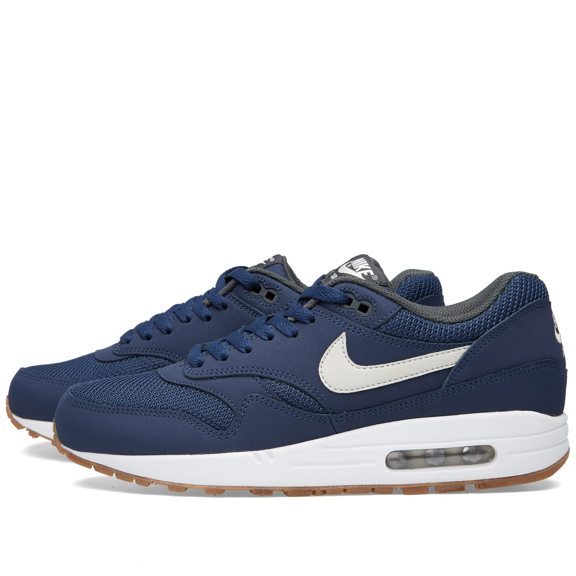 new product 14149 d0d04 Nike Air Max 1 Essential Midnight Navy   White   END.