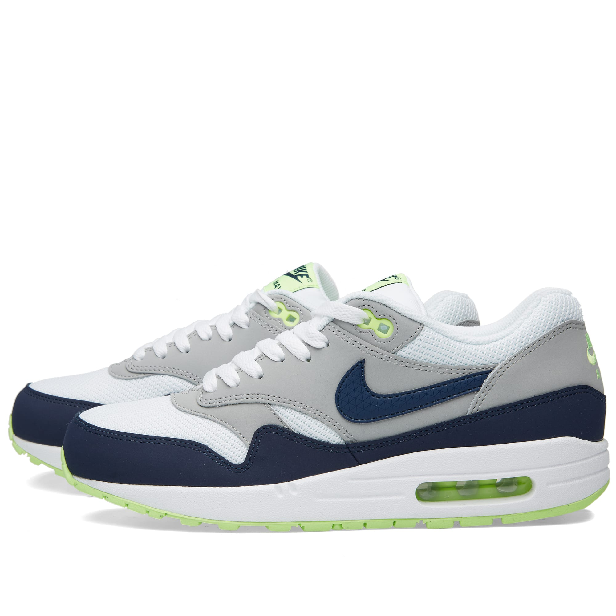 check out 5f4c3 406ba Nike Air Max 1 Essential White, Midnight Navy   Silver   END.