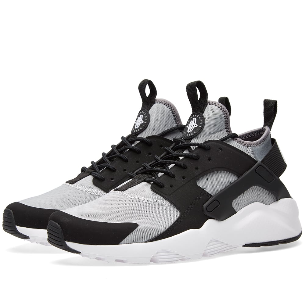 nike air huarache run ultra wolf grey white black. Black Bedroom Furniture Sets. Home Design Ideas