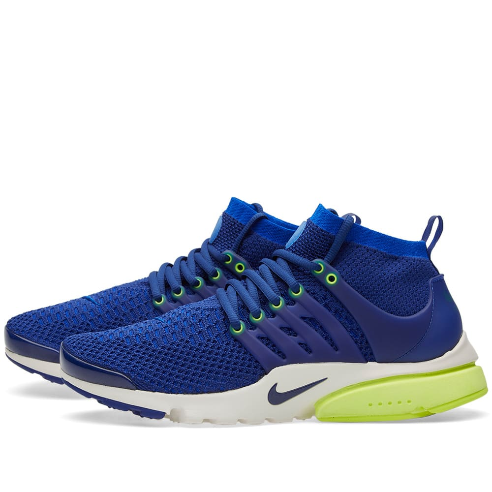 c8aae13c6f16d Nike W Air Presto Ultra Flyknit Deep Royal, Racer Blue & Volt | END.