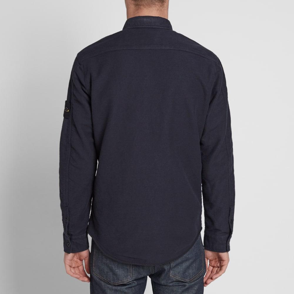 Stone Island Brushed Cotton Overshirt