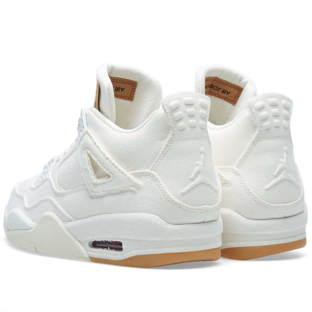 57442a93537c Levi s x Air Jordan 4 Retro NRG White