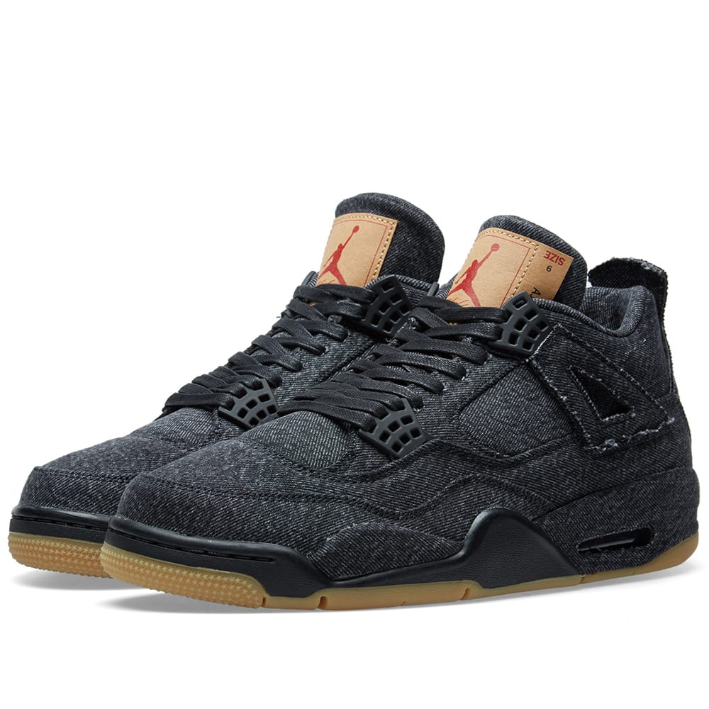 346686e12d41 Levi s x Air Jordan 4 Retro NRG Black