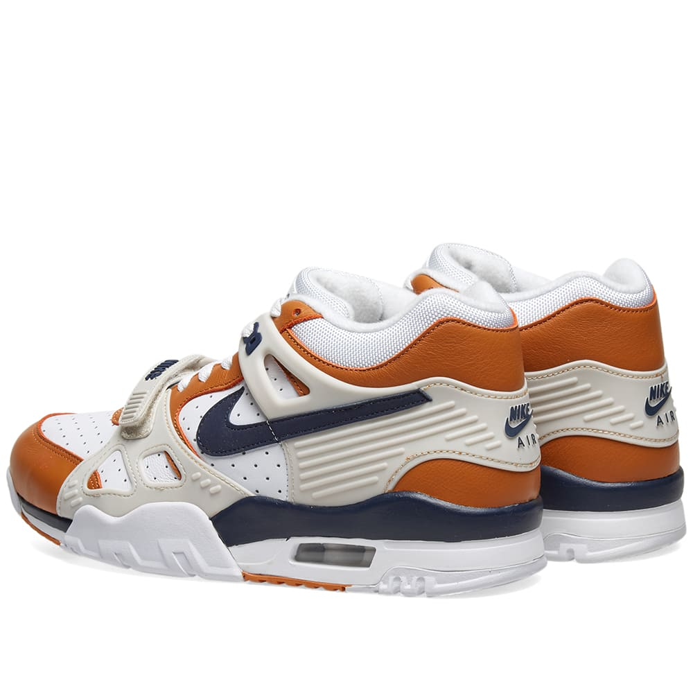 new concept c8592 93c1f Nike Air Trainer 3 QS White, Midnight Navy   Ginger   END.