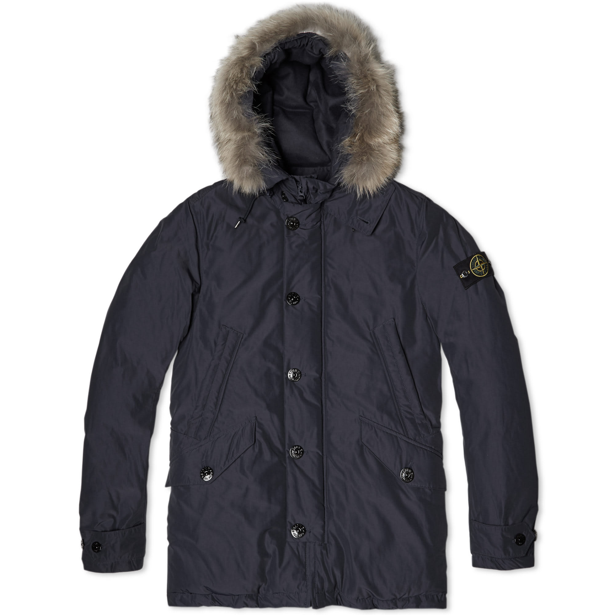 stone island micro reps down parka navy. Black Bedroom Furniture Sets. Home Design Ideas