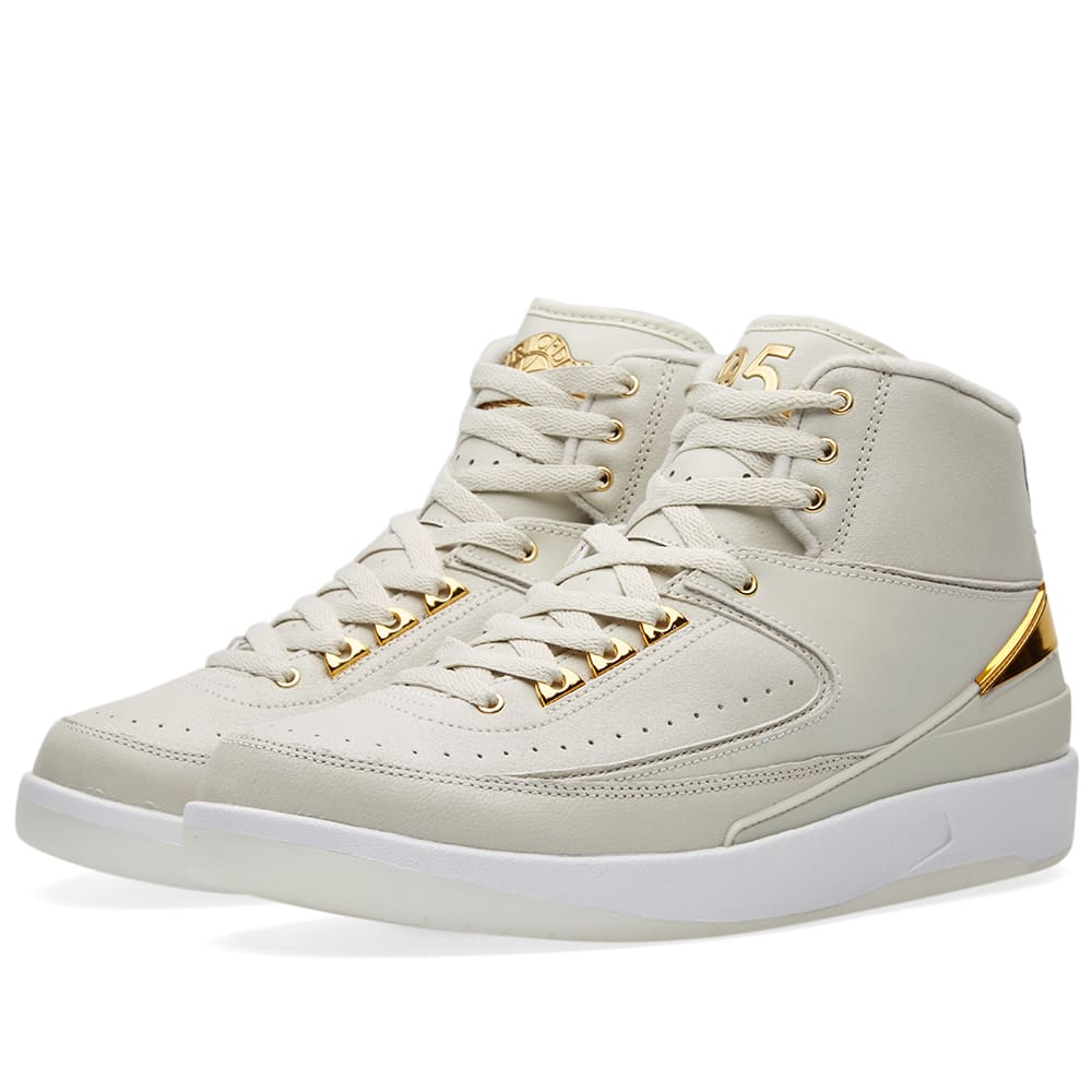 0413faed7b81e0 Nike Air Jordan 2 Retro Q54 Light Bone   Metallic Gold