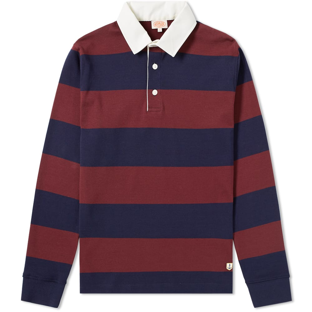 Armor-Lux ARMOR-LUX 76886 LONG SLEEVE STRIPE RUGBY SHIRT